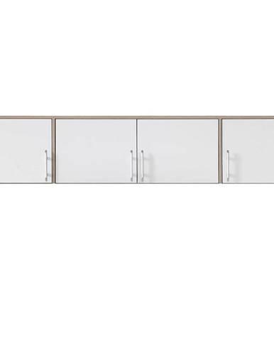 Nadstavec na skriňu Smart  SRN1 200 cm dub sonoma/biela
