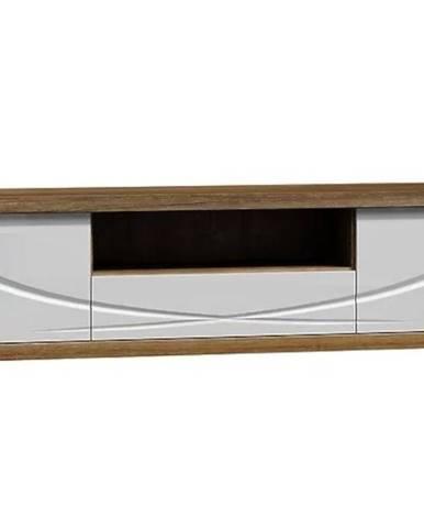 TV stolík Paris P5 RTV dub stirling/ biela