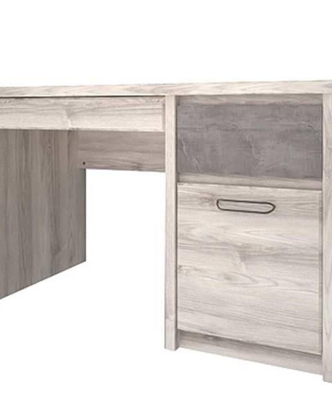 MERKURY MARKET Písací stôl 3 Axer gaštan nairobi/onyx