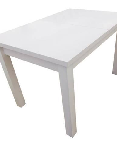 Jedálenský stôl  ST28 120X80+40 biely laminat
