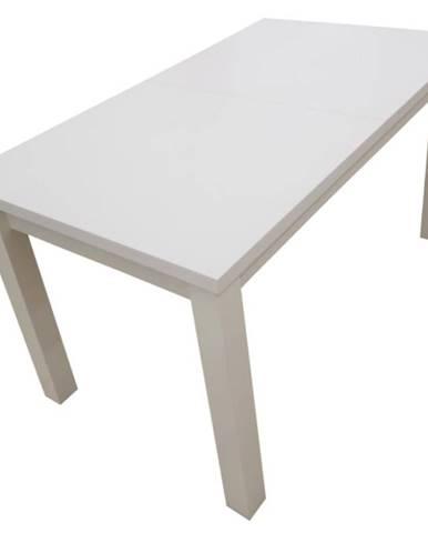 Jedálenský stôl ST28 140X80L+40 biely