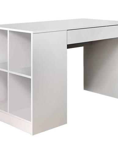 Písací stôl Antek 1 biely