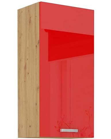 Skrinka do kuchyne Artisan červená lesk 45G-90 1F