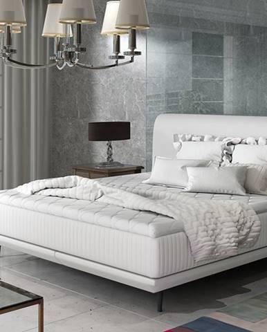 Ancona 180 čalúnená manželská posteľ biela