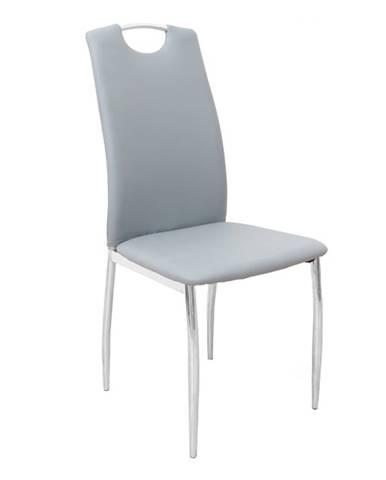 Ervina jedálenská stolička sivá