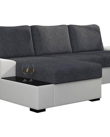 Nettuno L rohová sedačka s rozkladom a úložným priestorom sivá (Sawana 05)