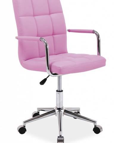 Q-022 kancelárska stolička ružová