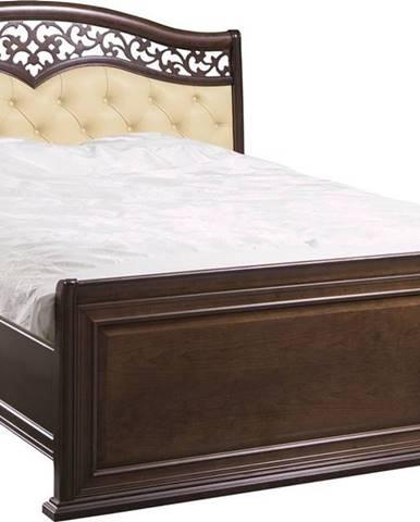 Verona V-A 160 rustikálna manželská posteľ hnedá