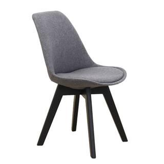 Lorita jedálenská stolička tmavosivá