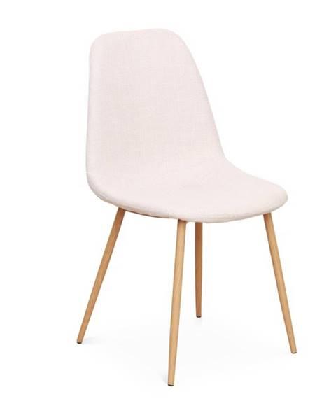 Kondela Lega jedálenská stolička krémová