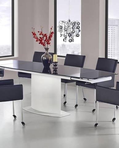 Anderson sklenený rozkladací jedálenský stôl čierna