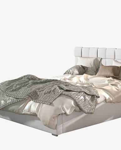 Galimo UP 140 čalúnená manželská posteľ s roštom biela