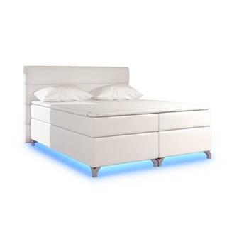 Avellino 140 čalúnená manželská posteľ s úložným priestorom béžová (Soft 33)