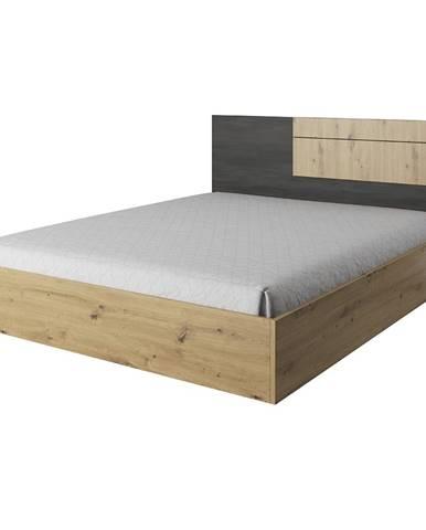 Bafra manželská posteľ dub artisan