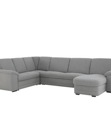 Biter U L rohová sedačka u s rozkladom a úložným priestorom sivá