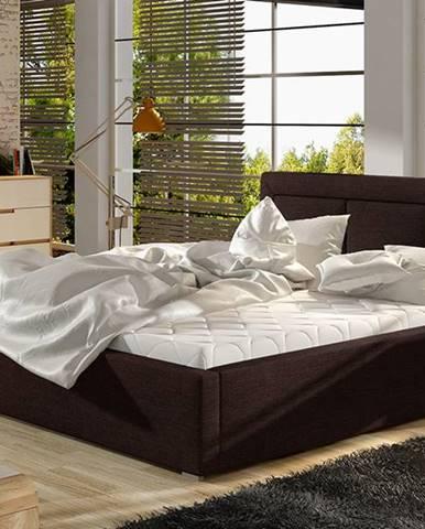 Branco 160 čalúnená manželská posteľ s roštom tmavohnedá (Sawana 26)
