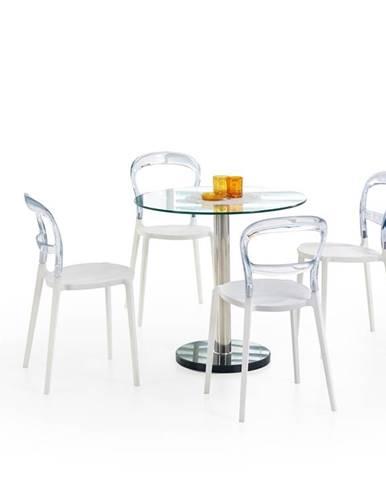 Cyryl sklenený jedálenský stôl priehľadná