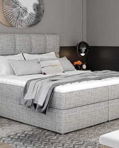 Grosio 145 čalúnená manželská posteľ s úložným priestorom sivá (Berlin 01)