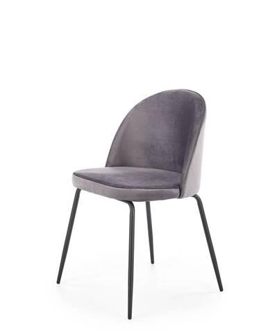 K314 jedálenská stolička tmavosivá
