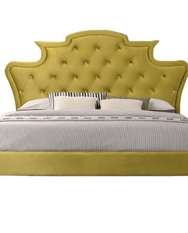 Reina manželská posteľ s roštom zlatá