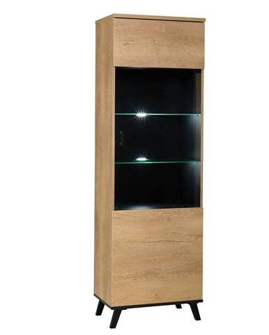 Siran Typ 2 jednodverová vitrína dub lefkas