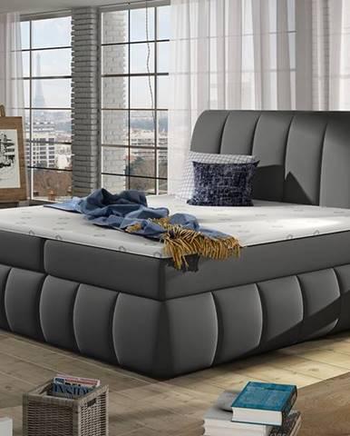Vareso 180 čalúnená manželská posteľ s úložným priestorom sivá (Soft 29)