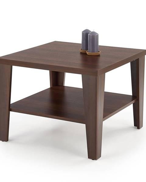 Halmar Manta Kwadrat konferenčný stolík orech tmavý