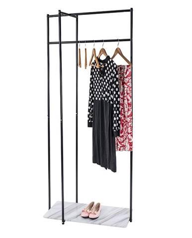 Debro kovový stojan na šaty čierna