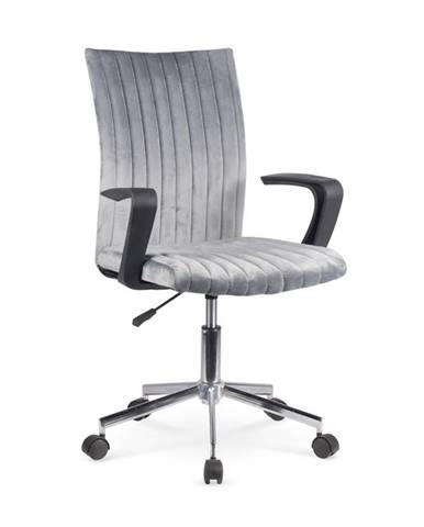 Doral kancelárska stolička s podrúčkami tmavosivá