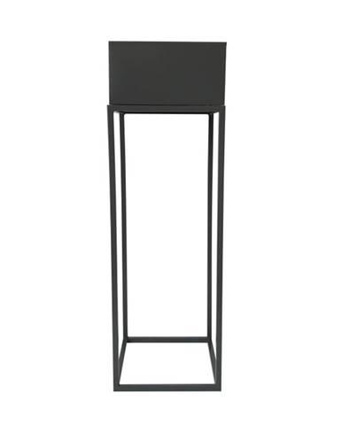 Indize Typ 1 kovový kvetináč tmavosivá
