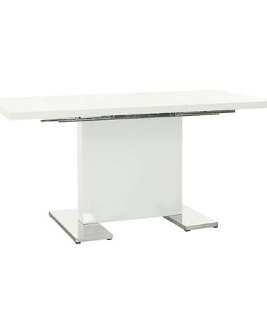 Irakol rozkladací jedálenský stôl biely lesk