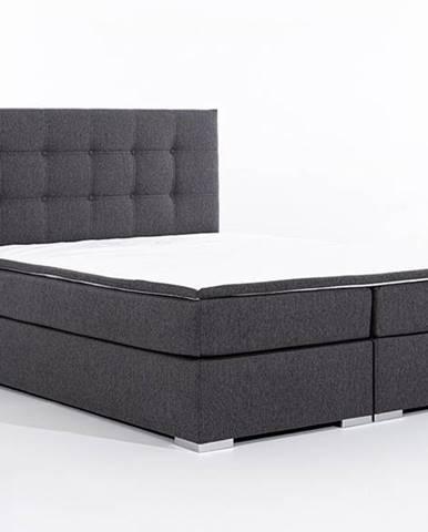 Isola 140 čalúnená manželská posteľ sivá