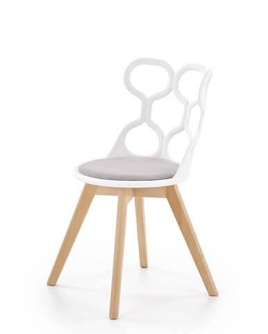K308 jedálenská stolička biela