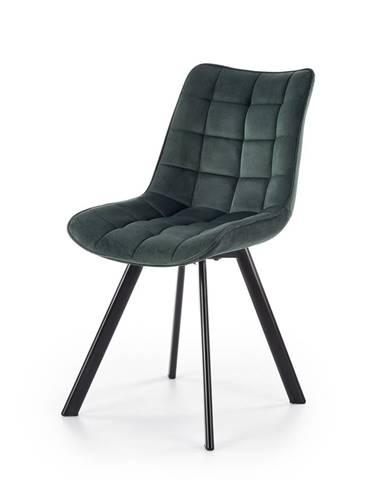 K332 jedálenská stolička tmavozelená