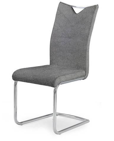 K352 jedálenská stolička sivá