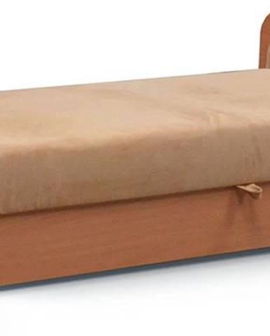 Pinerolo 80 P jednolôžková posteľ s úložným priestorom svetlohnedá