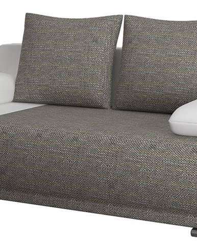 Real rozkladacia pohovka s úložným priestorom sivá