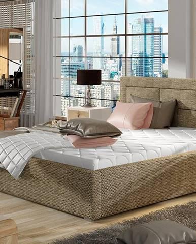 Rovigo UP 160 čalúnená manželská posteľ s roštom cappuccino