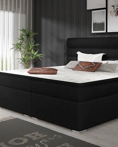 Spezia 160 čalúnená manželská posteľ s úložným priestorom čierna (Sawana 14)