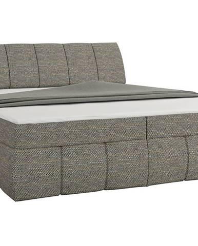 Vareso 180 čalúnená manželská posteľ s úložným priestorom sivá (Berlin 01)