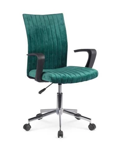 Doral kancelárska stolička s podrúčkami tmavozelená