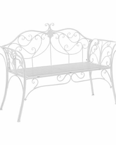 Etelia záhradná lavička biela