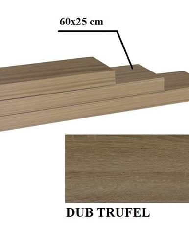 Gana polica 60x25 cm dub truflový