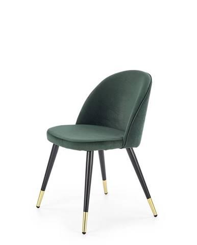 K315 jedálenská stolička tmavozelená