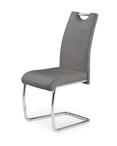 K349 jedálenská stolička sivá