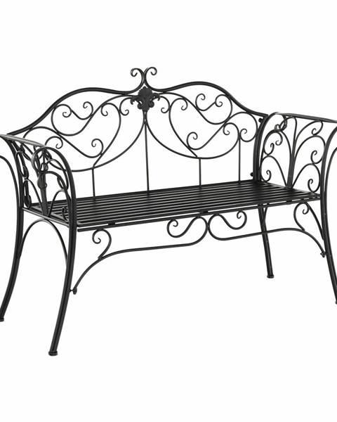 Tempo Kondela Etelia záhradná lavička čierna