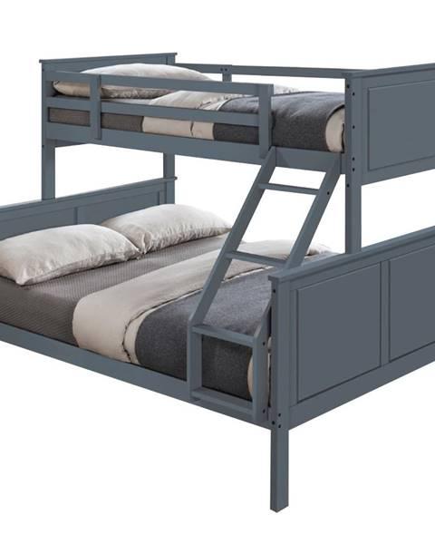 Kondela Nevil poschodová posteľ s roštami sivá