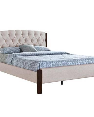 Elena New manželská posteľ s roštom piesková