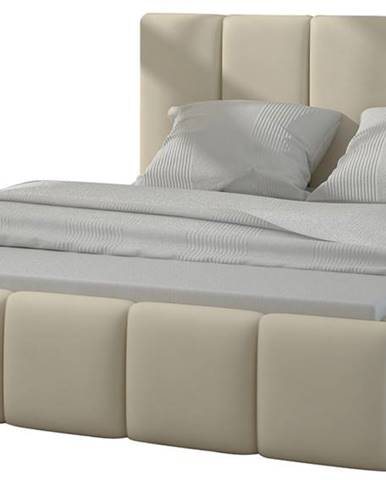 Evora 160 čalúnená manželská posteľ béžová