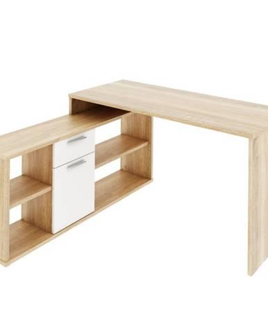Noe New rohový písací stolík dub sonoma